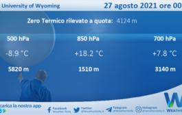 Sicilia: Radiosondaggio Trapani Birgi di venerdì 27 agosto 2021 ore 00:00