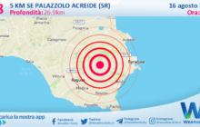 Sicilia: scossa di terremoto magnitudo 2.8 nei pressi di Palazzolo Acreide (SR)