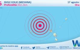 Sicilia: scossa di terremoto magnitudo 3.6 nei pressi di Isole Eolie (Messina)