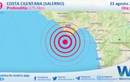 Sicilia: scossa di terremoto magnitudo 2.9 nei pressi di Costa Cilentana (Salerno)