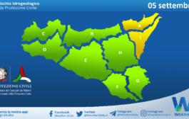 Sicilia: avviso rischio idrogeologico per domenica 05 settembre 2021
