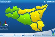 Sicilia: avviso rischio idrogeologico per domenica 12 settembre 2021