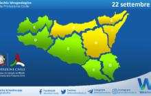 Emessa allerta meteo gialla su parte della Sicilia per mercoledì 22 settembre 2021