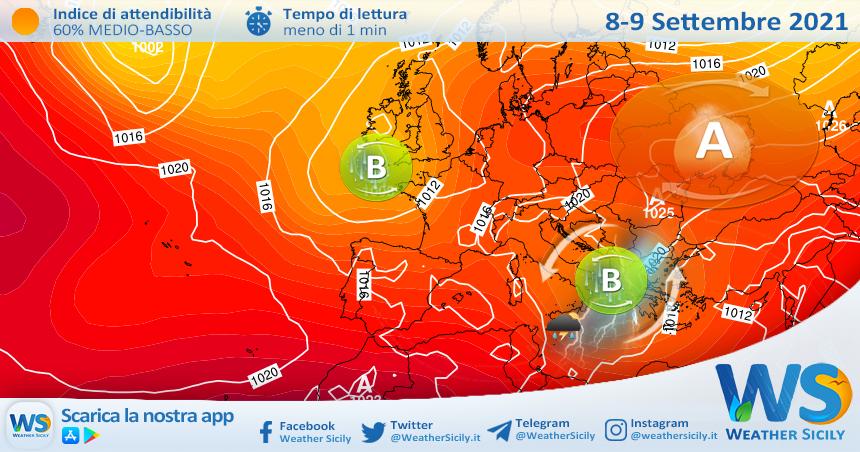 Sicilia: ancora instabilità e temporali sparsi tra mercoledì e giovedì!