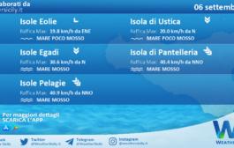 Sicilia, isole minori: condizioni meteo-marine previste per lunedì 06 settembre 2021
