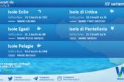 Sicilia, isole minori: condizioni meteo-marine previste per martedì 07 settembre 2021