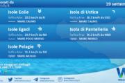 Sicilia, isole minori: condizioni meteo-marine previste per domenica 19 settembre 2021