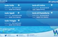 Sicilia, isole minori: condizioni meteo-marine previste per lunedì 20 settembre 2021