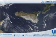 Sicilia: immagine satellitare Nasa di sabato 25 settembre 2021