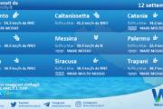 Sicilia: condizioni meteo-marine previste per domenica 12 settembre 2021