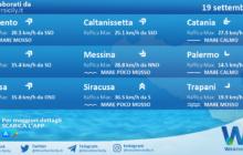 Sicilia: condizioni meteo-marine previste per domenica 19 settembre 2021