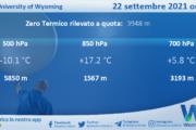 Sicilia: Radiosondaggio Trapani Birgi di mercoledì 22 settembre 2021 ore 12:00