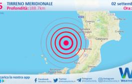 Sicilia: scossa di terremoto magnitudo 2.5 nel Tirreno Meridionale (MARE)