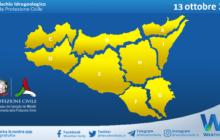 Sicilia: emessa allerta meteo gialla ovunque per mercoledì 13 ottobre 2021