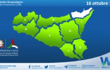 Sicilia: avviso rischio idrogeologico per sabato 16 ottobre 2021
