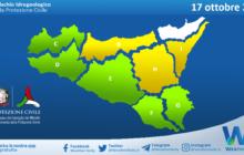 Sicilia: avviso rischio idrogeologico per domenica 17 ottobre 2021