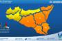Emessa allerta meteo arancione su Sicilia centro-orientale per domenica 24 ottobre 2021