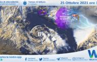 Ciclone sul Canale di Sicilia: nuovo peggioramento in serata ad est. Onde fino a 4 metri.
