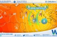 Sicilia, aria artica e ulteriore calo termico venerdì: possibili fiocchi fin i 1400 metri.