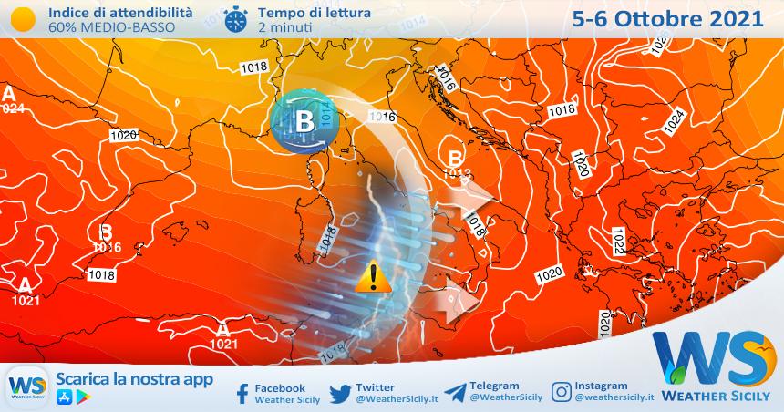 Sicilia, il vero autunno è pronto: serie di perturbazioni in arrivo con neve sull'Etna. Crollo termico.