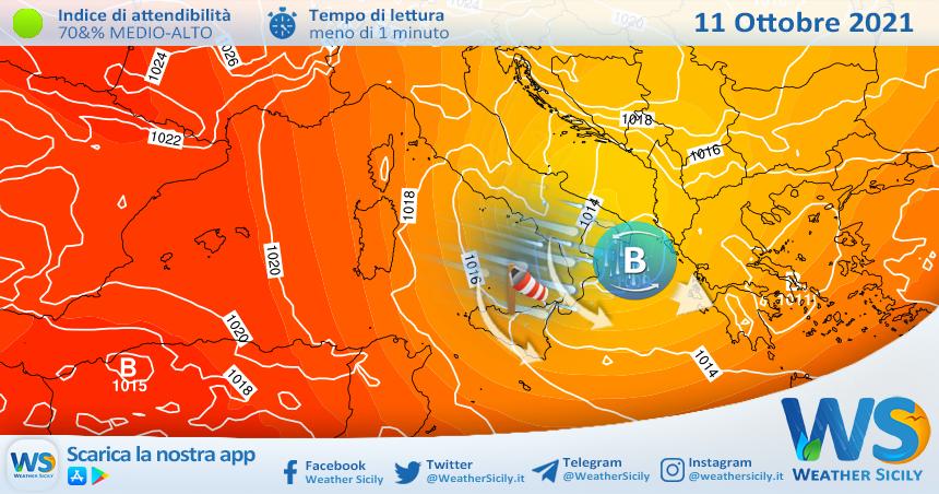 Lunedì molto fresco e perturbato sul nord Sicilia.