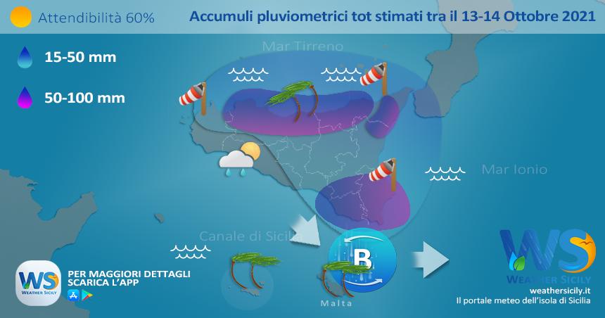 Sicilia, intenso maltempo nelle prossime ore: rischio nubifragi!