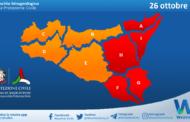 Sicilia: nuova allerta meteo per martedì 26 ottobre 2021