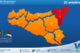 Sicilia: allerta rossa tra messinese e alto catanese per lunedì 25 ottobre 2021. Arancione altrove.