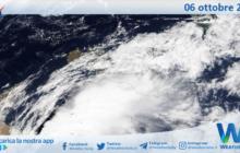 Sicilia: immagine satellitare Nasa di mercoledì 06 ottobre 2021