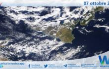 Sicilia: immagine satellitare Nasa di giovedì 07 ottobre 2021