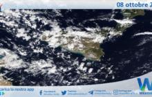 Sicilia: immagine satellitare Nasa di venerdì 08 ottobre 2021