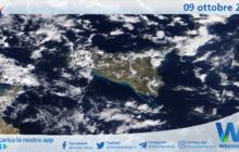 Sicilia: immagine satellitare Nasa di sabato 09 ottobre 2021