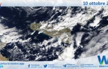 Sicilia: immagine satellitare Nasa di domenica 10 ottobre 2021