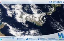 Sicilia: immagine satellitare Nasa di martedì 12 ottobre 2021