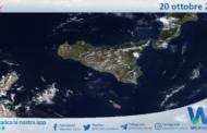 Sicilia: immagine satellitare Nasa di mercoledì 20 ottobre 2021