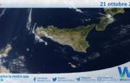 Sicilia: immagine satellitare Nasa di giovedì 21 ottobre 2021