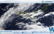 Sicilia: immagine satellitare Nasa di venerdì 22 ottobre 2021