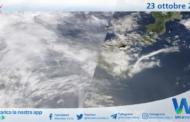 Sicilia: immagine satellitare Nasa di sabato 23 ottobre 2021