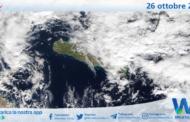 Sicilia: immagine satellitare Nasa di martedì 26 ottobre 2021