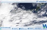 Sicilia: immagine satellitare Nasa di mercoledì 27 ottobre 2021