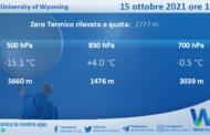 Sicilia: Radiosondaggio Trapani Birgi di venerdì 15 ottobre 2021 ore 12:00