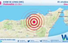 Sicilia: scossa di terremoto magnitudo 2.9 nei pressi di Longi (ME)