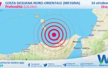 Sicilia: scossa di terremoto magnitudo 2.7 nei pressi di Costa Siciliana nord-orientale (Messina)