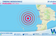 Sicilia: scossa di terremoto magnitudo 3.1 nel Tirreno Meridionale (MARE)